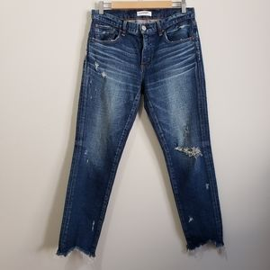 Moussy vintage Glendale ripped crop skinny jeans